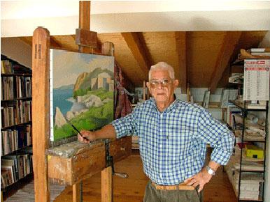 Associazione culturale christian hess arte tedesca tra for Cavalletto pittore